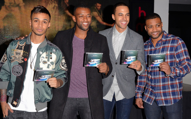 """JLS Signing their new album """" Goodbye: Greatest Hits"""" at HMV Oxford Circus, London, 19.11.13"""