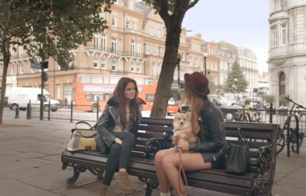 Binky and Lucy chat during Made In Chelsea, 18.11.13