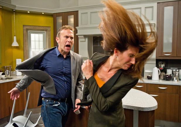 Emmerdale, Declan hits Megan, Mon 25 Nov