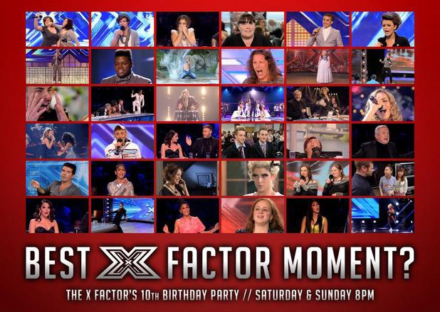 The X Factor celebrate 10th birthday party with best moments of the show.