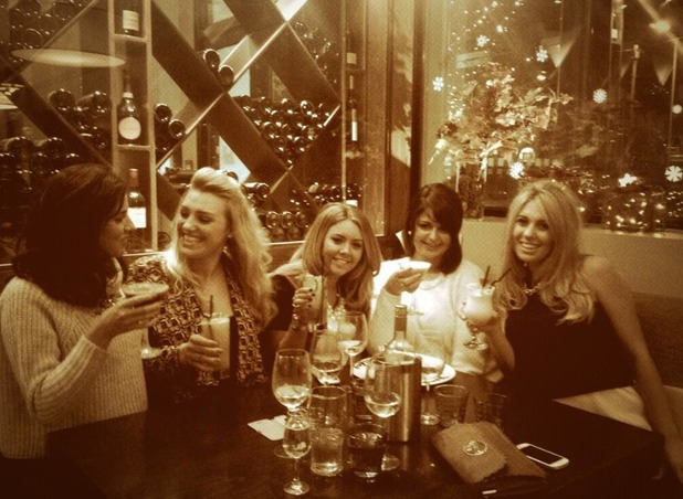 Lucy Mecklenburgh Twitter picture of her girls night out. 21.11.13