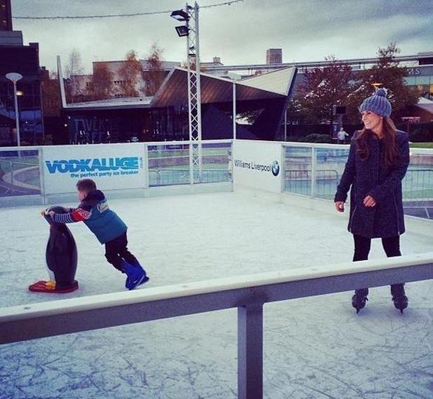 Coleen Rooney shares photo of son Kai and herself ice skating - 13.11.2013