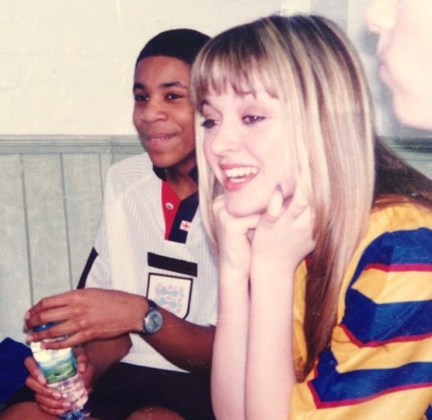 Fearne Cotton posts throwback picture of her and Reggie Yates as teenagers on Twitter, Nov 13.