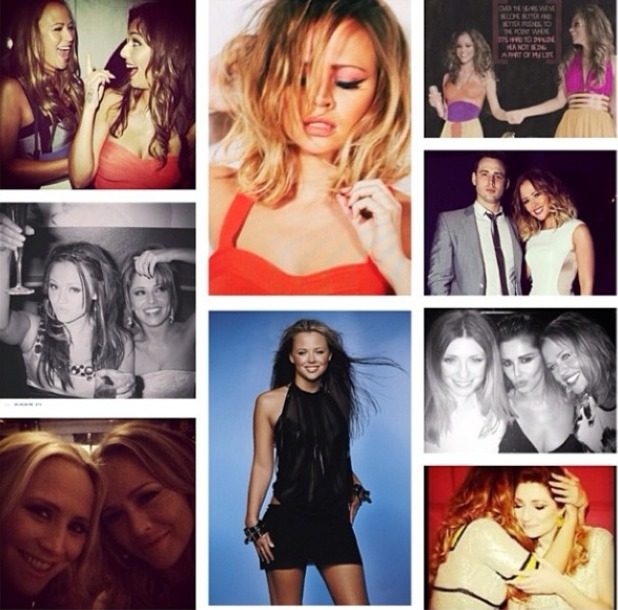 Cheryl Coles wishes Kimberley Walsh a happy birthday on Instagram, 19.11.13