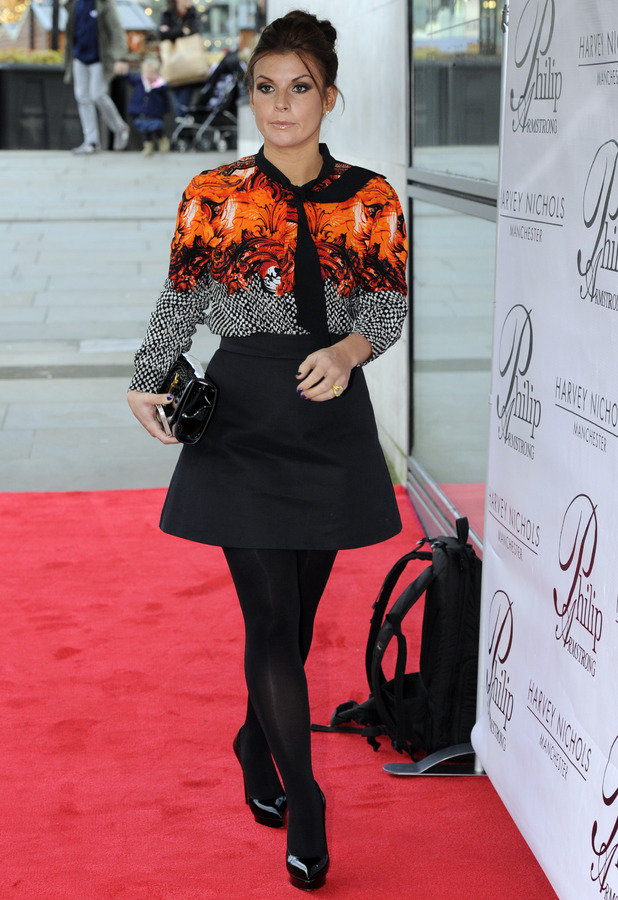 Coleen Rooney - Phillip Armstrong charity lunch at Harvey Nichols, Manchester, Britain - 21 Nov 2013