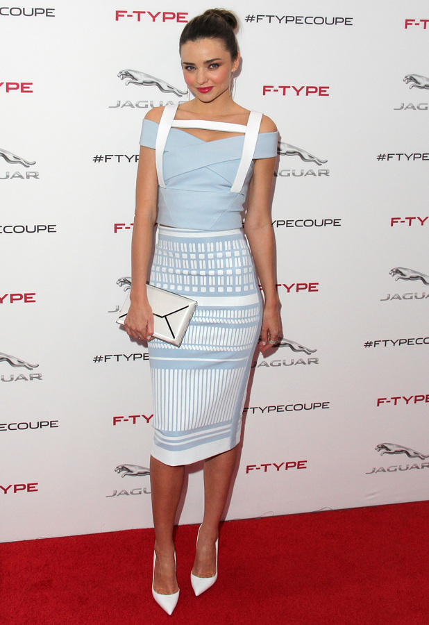 Miranda Kerr attends The Jaguar F-TYPE Coupe Launch Party And Reveal at Raleigh Studios in Los Angeles - 19 November 2013