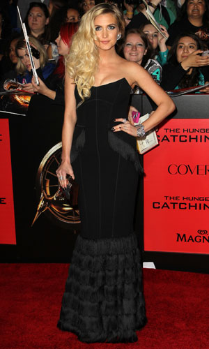 Ashlee Simpson, The Hunger Games Catching Fire Premiere, Los Angeles, 18 November 2013