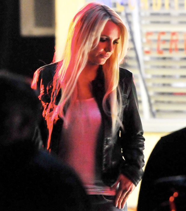 "Britney Spears filming the promo for her new single ""Perfume"" in Lancaster, California. 19 November 2013."