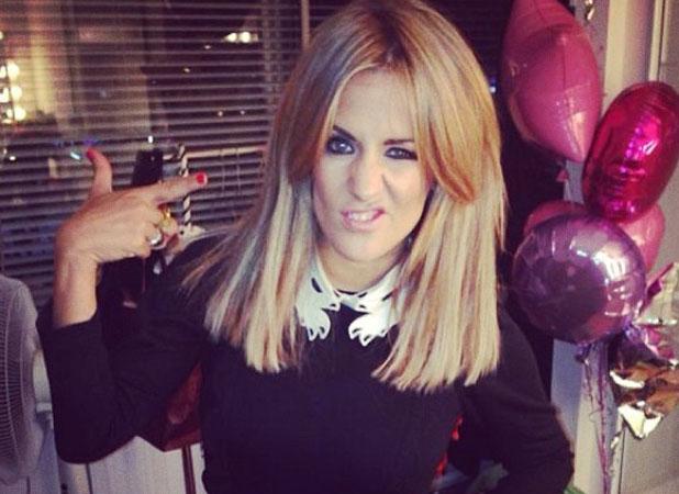 Caroline Flack shows off new hair on Twitter on 16 November 2013