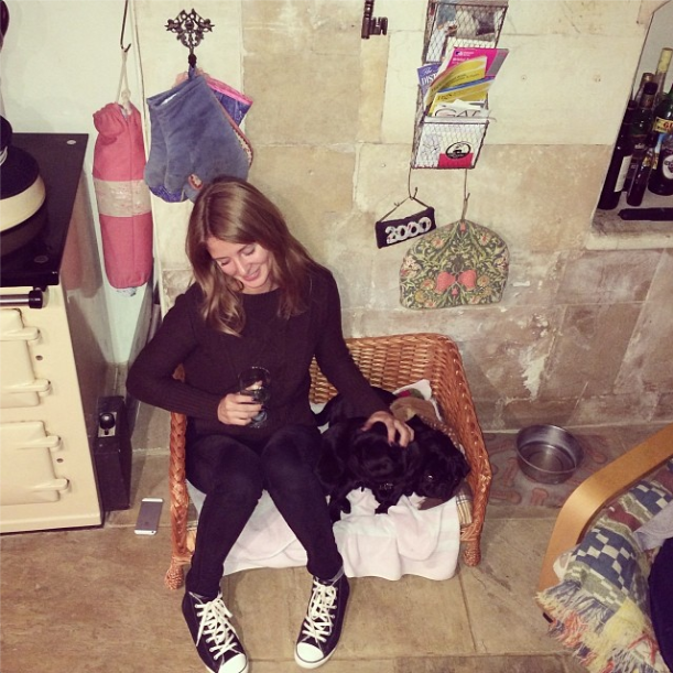 Millie Mackintosh with her pugs, 16.11.13
