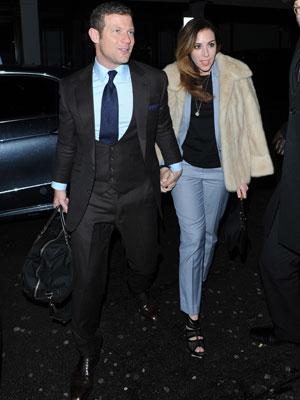 X Factor judges Sharon Osbourne, Nicole Scherzinger, Gary Barlow, Louis Walsh and Dermot O'Leary and Caroline Flack enjoy dinner together with their partners at C London, 18 November 2013
