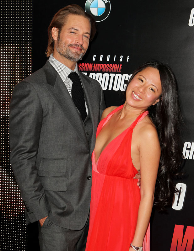 'Mission Impossible - Ghost Protocol' Film premiere, New York, America - 19 Dec 2011 Josh Holloway and wife Yessica Kumala