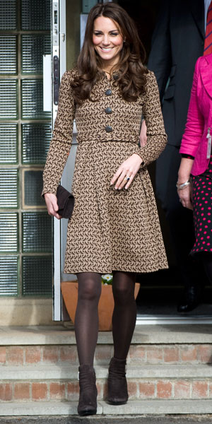 Catherine, Duchess of Cambridge aka Kate Middleton arrives at Rose Hill School Oxford, England - 21.02.12
