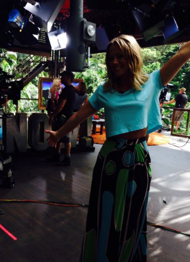 Kimberley Walsh on the set of I'm A Celebrity Get Me Out Of Here NOW! 21 November 2013