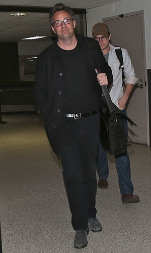 Matthew Perry arrives at LAX from Canada, 19 November 2013