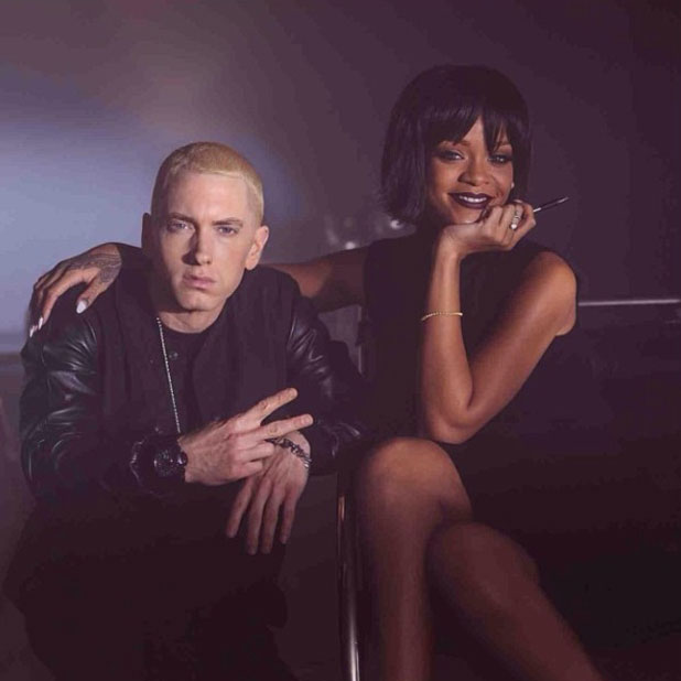 Eminem and Rihanna on the set of the Monster, 20 November 2013