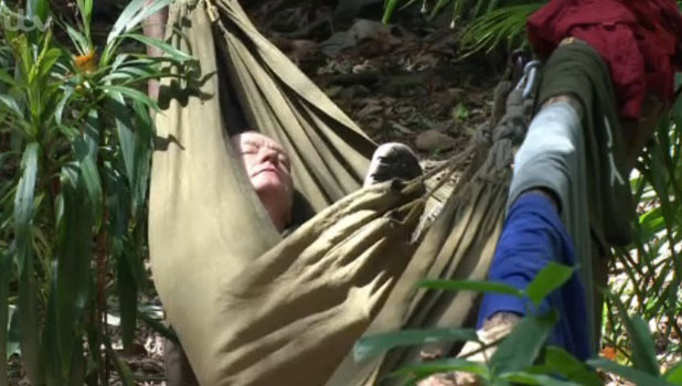 I'm A Celebrity Get Me Out Of Here 2013: Steve Davis snoozes in a hammock, 21 November