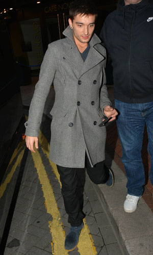 The Wanted - Jay McGuiness, Max George, Tom Parker, Siva Kaneswaran, Nathan Sykes outside Westbury Hotel, 19 November 2013