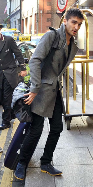 The Wanted arrive in Dublin ahead of HMV Dundrum signing and Childline Concert 2013: Tom Parker, 19 November 2013