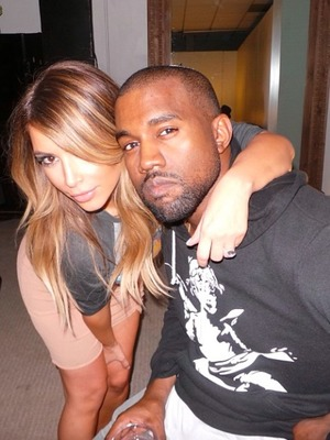 "Kim Kardashian shares selfie with fiancé Kanye West with the message ""Foreva eva"", Saturday 30 November 2013"