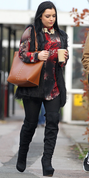Shone McGarty out and about, Estree Studios, London, Britain - 26 Nov 2013