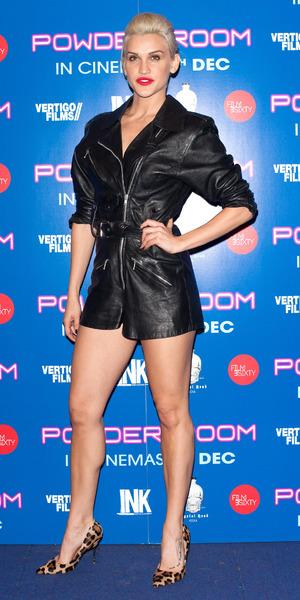 Ashley Roberts wears sexy black playsuit to Powder Room premiere at the Cineworld Haymarket, 27 November