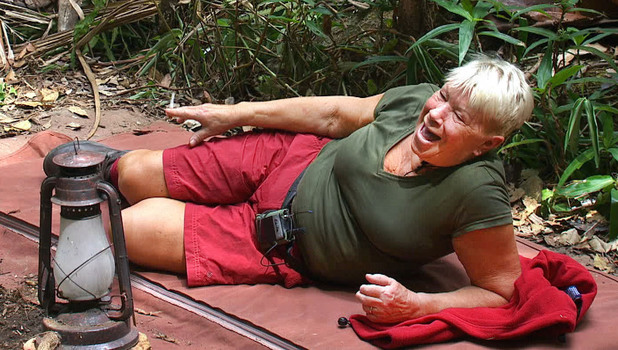 Laila Morse relaxes in camp during I'm A Celebrity, 29 November 2013