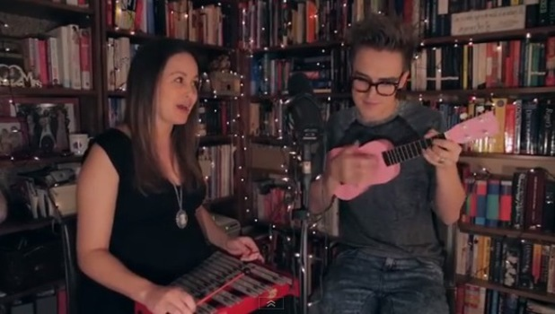 McFly's Tom Fletcher and pregnant wife Giovanna Fletcher perform a version of 'Love Is On The Radio' called the 'Mr & Mrs F' version.
