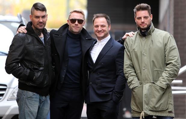 Boyzone outside ITV studios - 25 November 2013
