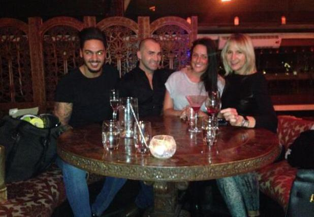 Celebrity Big Brother's Mario Falcone, Charlotte Crosby, Carol McGiffin and Louie Spence meet up for reunion at Gligamesh in London, 28 November 2013