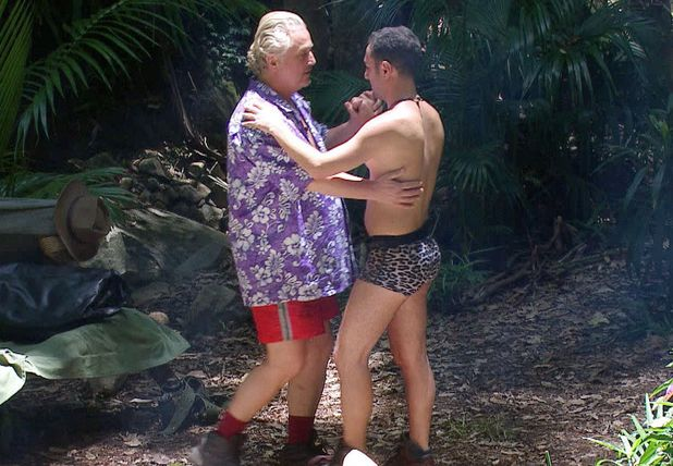 'I'm A Celebrity Get Me Out Of Here' TV Programme, Australia - 25 Nov 2013 David Emanuel and Vincent Simone dancing in camp 25 Nov 2013