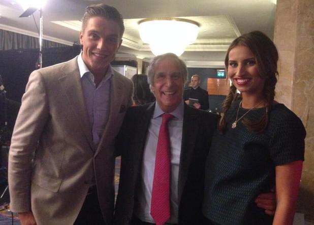 TOWIE's Ferne McCann and Lewis Bloor meet Henry Winkler at the British Academy Children's Awards - 24 November 2013