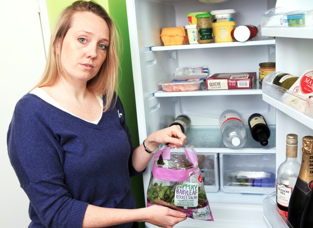 Sarah Crosby finds it hard not to waste food as a single girl