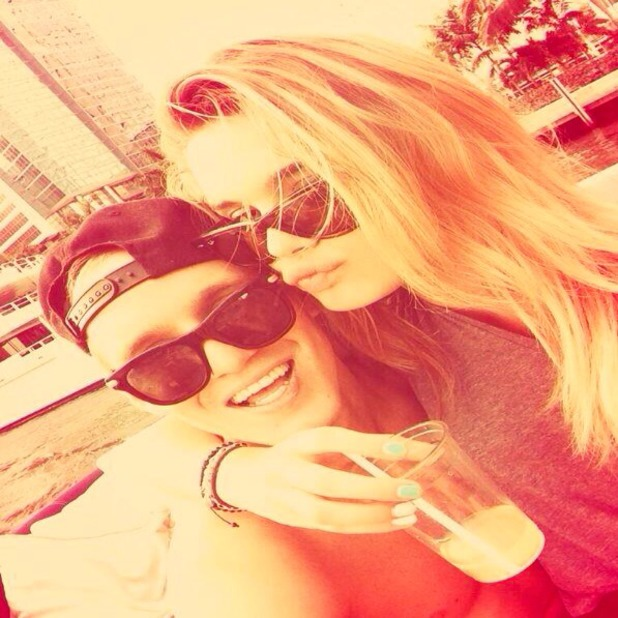 Jamie Laing tweets picture of himself with model Chloe Lloyd in Miami! 27 November 2013