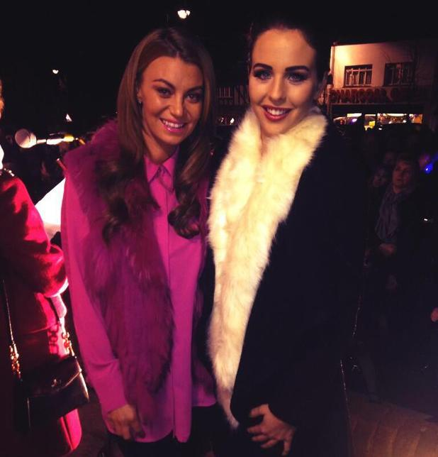 TOWIE's Lydia Bright and Billi Mucklow switch on the Loughton Christmas lights together - 28 November 2013
