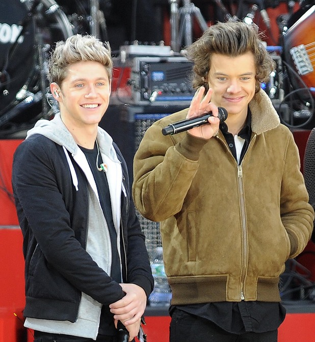'Good Morning America' TV show, New York, America - 26 Nov 2013 Niall Horan and Harry Styles