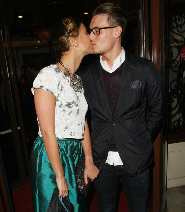 TOWIE's Ferne McCann and Charlie Sims arrive at party in London. 11/26/2013