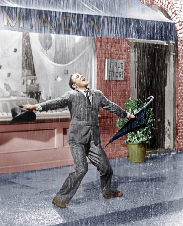Gene Kelly dances in Singin in the Rain