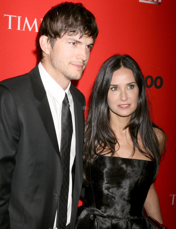 Ashton Kutcher and Demi Moore attend the 2010 TIME 100 Gala at the Time Warner Center