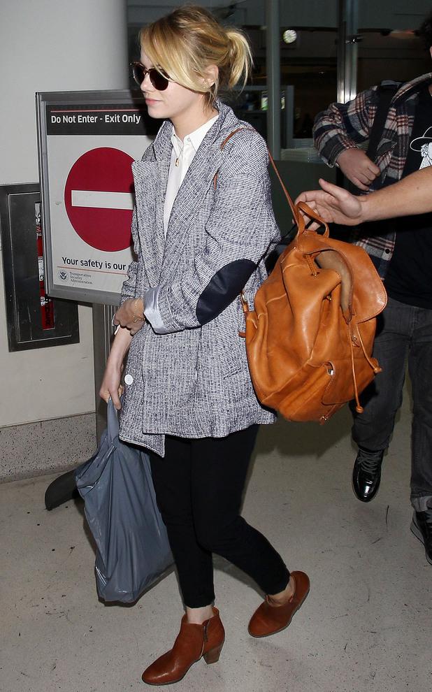 Emma Stone at LAX airport in Los Angeles - 27 November 2013