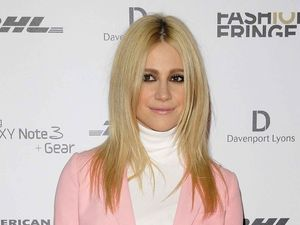 Pixie Lott looks sugary sweet in head-to-toe candy pink