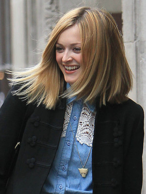 Fearne Cotton shows off new haircut at the studios of Radio 1, London, Britain - 10 Mar 2011