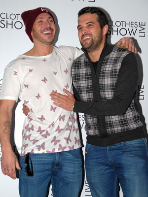 Kirk Norcross and Ricky Rayment at Clothes Show Live at Birmingham's NEC - Day 1 12/06/2013. Birmingham, United Kingdom