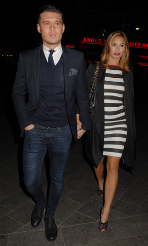 Nick Ede's Style For Stroke Charity Event at INK LDN Ferne McCann and Charlie Sims leaving the venue - London, Britain - 04 Dec 2013