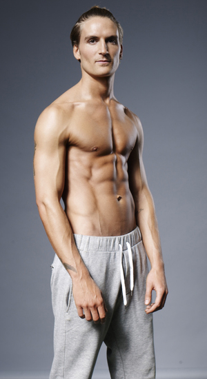 Men's Health magazine six-pack challenge for the Made In Chelsea boys Pictured: Oliver Proudlock