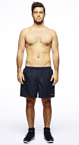 Men's Health magazine six-pack challenge for the Made In Chelsea boys Pictured: Spencer Matthews