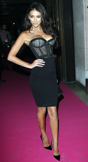 Georgia Salpa attends the Lingerie Awards in London - 4 December 2013