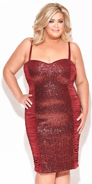 Gemma Collins models her Christmas capsule clothing collection