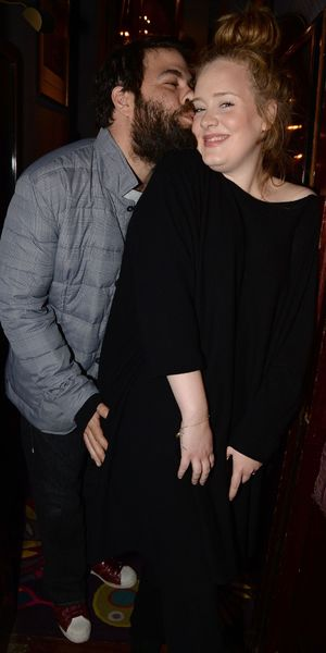 Adele and Simon Konecki attend Lady Gaga in concert at Annabel's, London - 06 Dec 2013