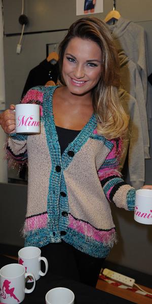 Samantha and Billie Faiers open Minnies Boutique pop up shop in Fishergate Shopping Centre, Preston, Lancashire. 7 December 2013.